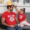 BEST DAD 01 & BEST DAUGHTER 01 CHRISTMAS SHIRTS