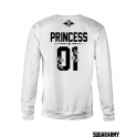 PRINCESS and PRINCE matching couple sweatshirts