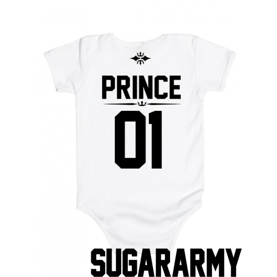 PRINCE 01 baby bodysuit ♛ CUSTOM NUMBER ♛