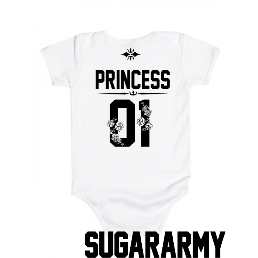 064f0bb0e PRINCESS 01 baby bodysuit ♛ CUSTOM NUMBER ♛