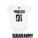PRINCESS 01 baby bodysuit ♛ CUSTOM NUMBER ♛