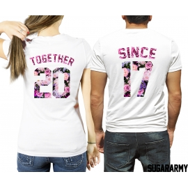 TOGETHER SINCE t-shirts Flower Edition