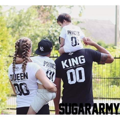 King, Queen, Prince and Princess matching set | CUSTOM NUMBER