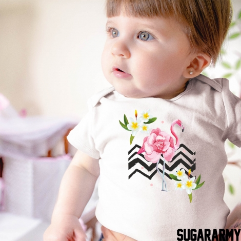 FLAMINGO SUMMER BODYSUIT/T-SHIRT