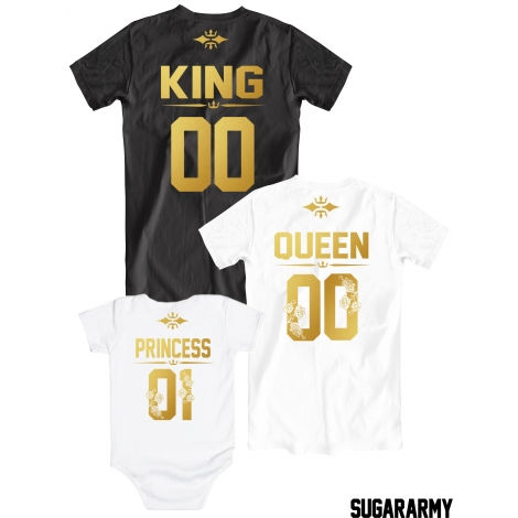 King Queen Princess 01 t-shirts for the whole family