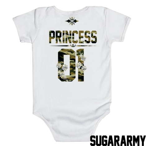 Princess 01 Bodysuits in Camouflage print