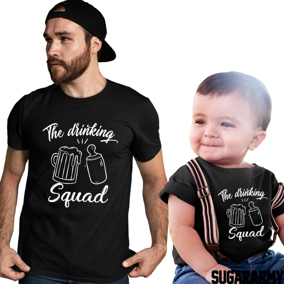 THE DRINKING SQUAD Matching father and son t-shirts
