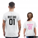 BEST DAD BEST DAUGHTER Hot Pink