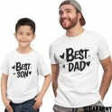 BEST DAD BEST SON Matching father and son t-shirts
