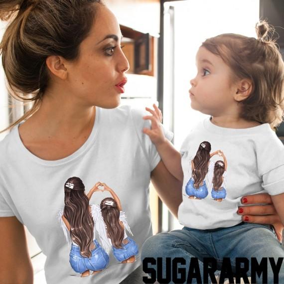#Angels Matching Mom Daughter Set