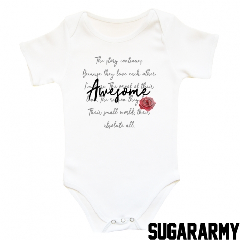 Awesome baby bodysuit ROSE