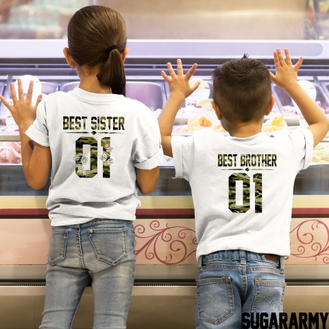 BEST BROTHER BEST SISTER GREEN CAMOUFLAGE