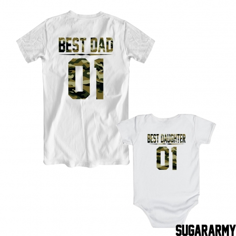 BEST DAD BEST DAUGHTER 01 GREEN CAMOUFLAGE