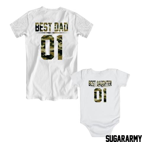 BEST DAD BEST DAUGHTER 01 GREEN CAMOUFLAGE