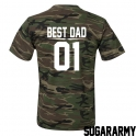 BEST DAD CAMOUFLAGE T-SHIRT