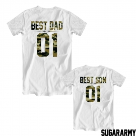 BEST DAD and BEST SON camouflage print