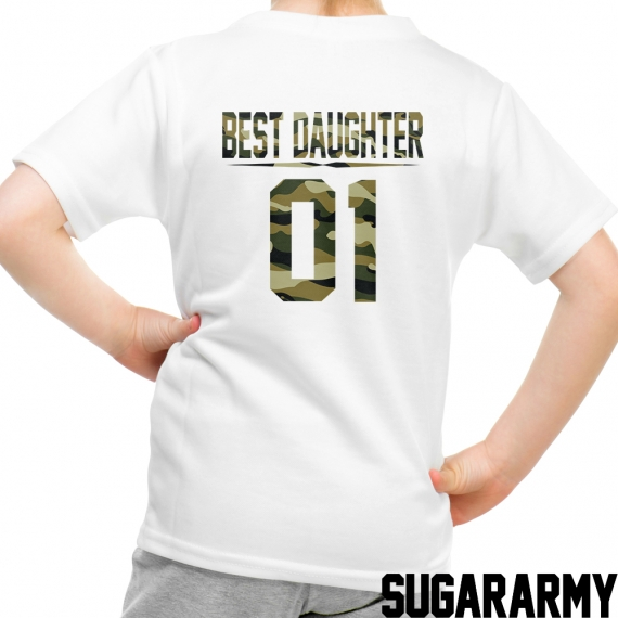 BEST DAUGHTER Camouflage Print