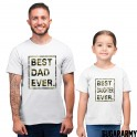 BEST DAUGHTER EVER BEST DAD EVER CAMOUFLAGE PRINT