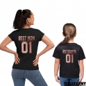 BEST MOM BEST DAUGHTER Matching Rose Gold T-shirts