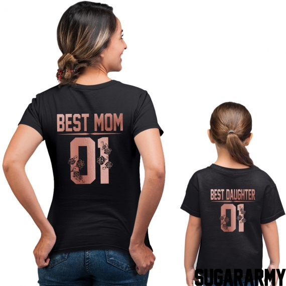 BEST MOM BEST DAUGHTER Rose Gold