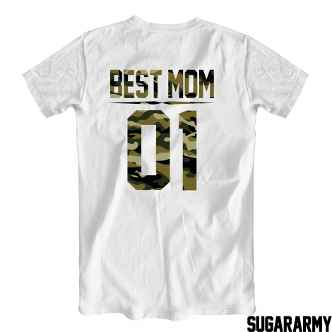 BEST MOM camouflage print