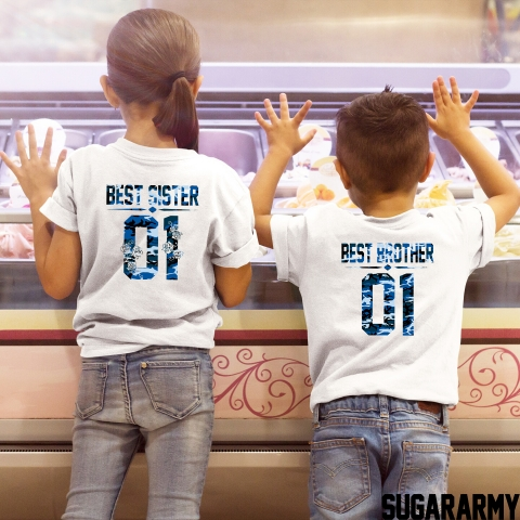 BEST BROTHER BEST SISTER BLUE CAMOUFLAGE