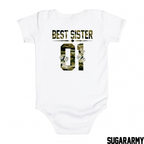 BEST SISTER GREEN CAMOUFLAGE