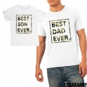 BEST SON EVER BEST DAD EVER CAMOUFLAGE PRINT