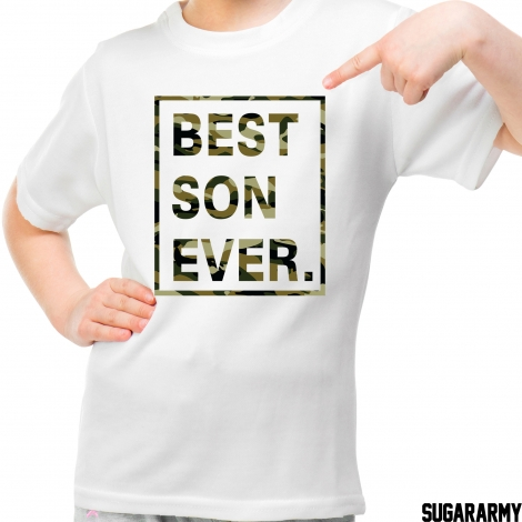 BEST SON EVER CAMO PRINT t-shirt