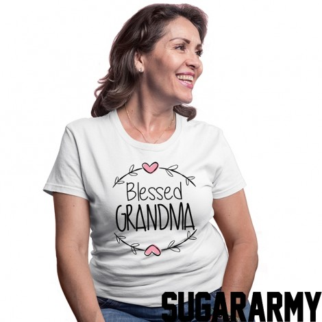Blessed Grandma White T-shirt