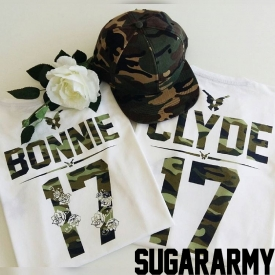 BONNIE and CLYDE Camouflage Print | Custom numbers