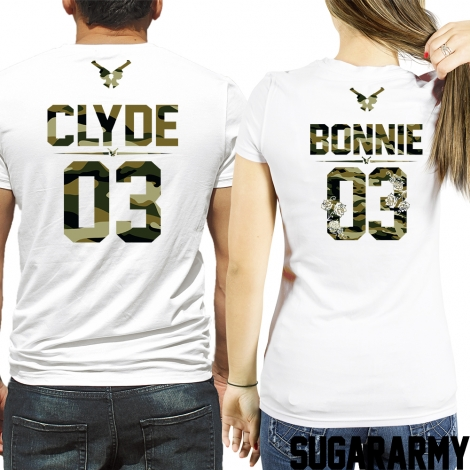 BONNIE and CLYDE Camouflage Print