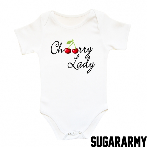 Cherry Lady baby bodysuit