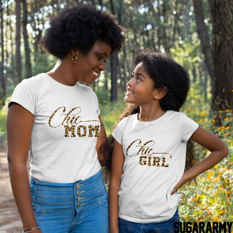 CHIC MOM & CHIC GIRL Set - Leopard Print