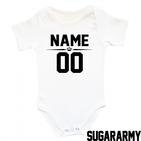 Custom name and number BABY BODYSUIT