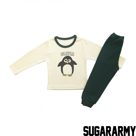 CUSTOM PENGUIN  GIRL BEIGE PJS
