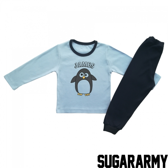 CUTE PENGUIN - BLUE PJS