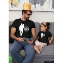 Matching father and daughter t-shirts