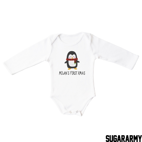 PERSONALIZED CHRISTMAS BABY BODYSUIT
