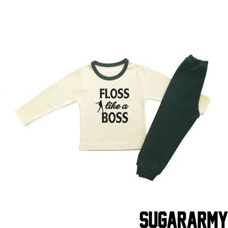 FLOSS LIKE A BOSS BEIGE PJS
