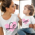 LO VE GALAXY Matching Mom Daughter Set