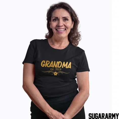 GRANDMA EST.  GOLD LETTERS T-SHIRT