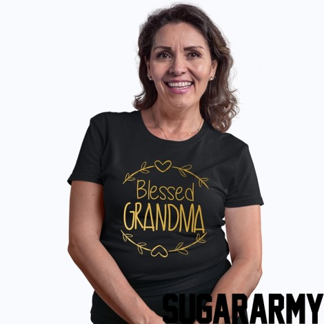 Blessed Grandma Gold Letters