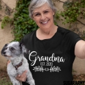 GRANDMA EST. |T-SHIRT | Flower Design