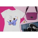 Happiness is mother & daughter time - Mom Cute T-shirt