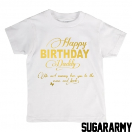 Happy Birthday Daddy t-shirt ★ Golden text ★
