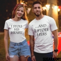 HEARTS STOLEN COUPLE T-SHIRTS