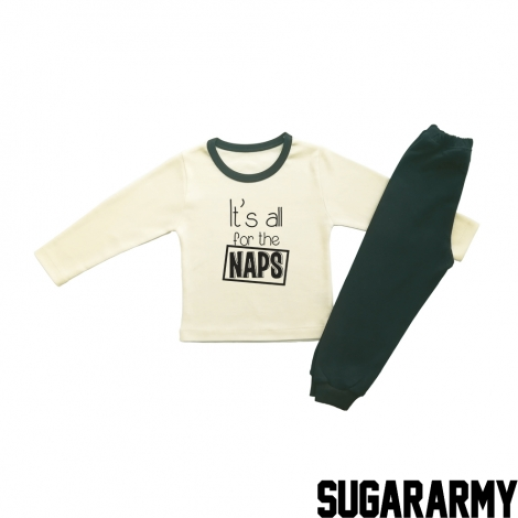 IT'S ALL FOR THE NAPS - BEIGE PJS