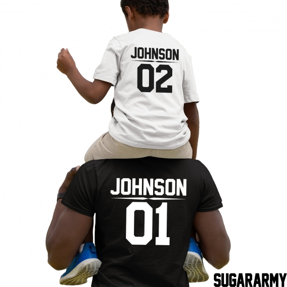 PERSONALIZED T-shirts for Dad and Kid