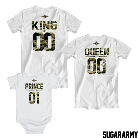 King, Queen and Prince Camouflage Print